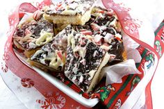 Chocolate & Peppermint Bark Cookies Recipe