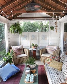 My favorite view in our new screened porch. I can't believe this was a dirty, old storage shed a few weeks ago!  The before and after is on the blog today! #thebuffalobungalow @loweshomeimprovement