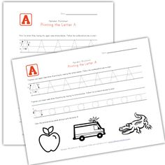 Kids Learn to Print - Traceable Alphabet Worksheets