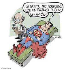 humor grafico psicologo superman