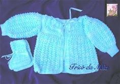 Casaquinho baby trico com receita