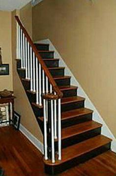 Best Black Stair Risers Stair Risers Painted Black Dark 400 x 300