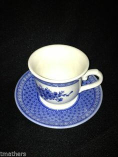 Churchill Out Of The Blue Cup And Saucer NICE!