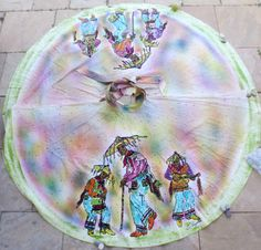 Vintage 50s handpainted Mexican skirt