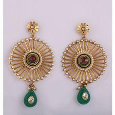 Fancy Indian Designer Long Earring - Earrings by Variation Design