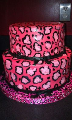 Leopard Cake, Pink Leopard Print, Leopard Pattern, Safari Birthday Cakes, Girl Birthday, Movie Party, Party Party, Party Ideas, Cool Cake Designs