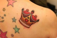 Crown tattoo by Michelle Madison