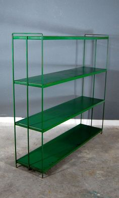 Your place to buy and sell all things handmade Metal Shelving Units, Metal Bookcase, Bookcase Storage, Bookshelves, Free Standing Shelves, Garage Sale Finds, Vintage Shelf, Display Shelves, House Remodeling