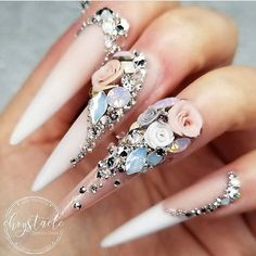 Beautiful nails by Ugly Duckling Master Educator 😍 Ugly Duckling Nails is dedicated to keeping love, support, and positivity flowing in our industry ❤️ 3d Nail Art, Stiletto Nail Art, Nail Nail, Coffin Nails, Beautiful Nail Art, Gorgeous Nails, Pretty Nails, Nail Swag, Dope Nails