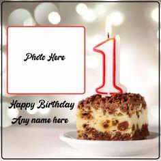 Birthday Three Layer Cake Image With Name And Photo Heart Birthday Cake, Happy Birthday Chocolate Cake, Round Birthday Cakes, Friends Birthday Cake, Happy Birthday Wishes Cake, Unique Birthday Cakes, Happy Birthday Cake Images, Birthday Chocolates, Birthday Photo Frame