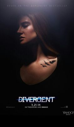 Shailene Woodley & Theo James: New 'Divergent' Posters!: Photo Check out Shailene Woodley and a shirtless Theo James in the new posters for their highly anticipated movie Divergent! Divergent Tris, Divergent Movie Stills, Divergent Movie Poster, Divergent Characters, Divergent 2014, Watch Divergent, Female Characters, Divergent Symbols, Film Music Books