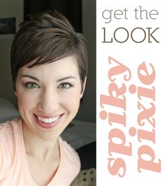 Really cute tutorial with video. Lyndsay and the Johnsons: Styling the Spiky Pixie 'Do