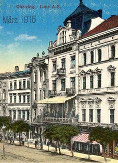 """Horní nám. Dům """"Grand caffé""""  později přestavěn. Old Postcards, Czech Republic, Mansions, House Styles, Travel, Home Decor, Simple Lines, Mansion Houses, Voyage"""