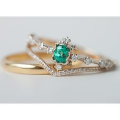 Emerald Forest Ring Straight from the Tokyo workshop of master jeweler, Yoshinobu Kataoka
