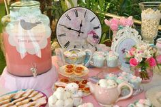 Candy Bar Alice in wonderland baptism