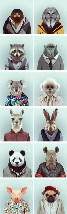 4. Unusual portraiture 8. New realities Fashion Zoo Animals – Fubiz