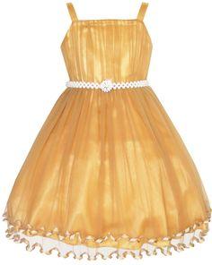 sunny fashion flower girls dress pearl belt pageant cpsejrpp