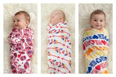 New celebrity-designed swaddlers at aden + anais support (RED)