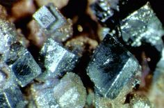 Acanthite,  	Ag2S crystals