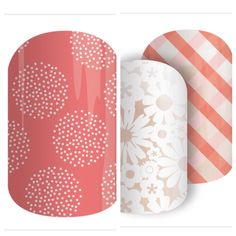 Jamberry Guava and Picnic Get Nails, Hair And Nails, Girly Stuff, Girly Things, Manicure Images, Jamberry Nail Wraps, Nail Games, Mani Pedi, Color Street
