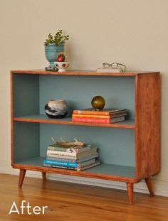 Before and After: Mid-Century Bookcase Makeover » Curbly | DIY Design Community
