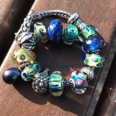 My peacock bracelet #trollbeads #faerybeads