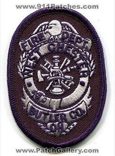 West Chester Fire Department Dept FD Rescue EMS Butler County Patch Ohio OH NEW