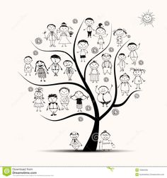 Image result for vector family tree silhouette
