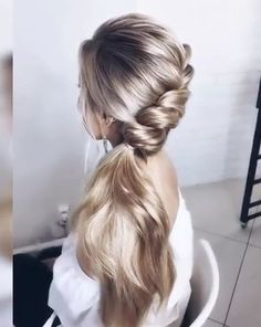 Easy Bun Hairstyles, Pretty Hairstyles, Hairstyle Ideas, Wedding Hairstyle, Hair Wedding, Hairstyles Haircuts, Wedding Shoes, Straight Hairstyles, Wedding Rings