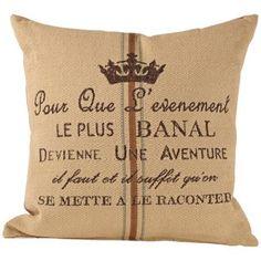 "Aventure Tan Down 20"" Square Throw Pillow | LampsPlus.com  #LampsPlus #mystyle"