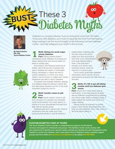 In Good Health Winter 2018 | Diabetes is a complex disease. Let's set the record straight on these common #diabetes myths.