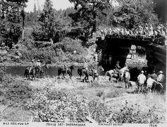 Macauley Bridge Movie Set  Shenandoah Movie Set, about a mile above Mabel Oregon on the Mohawk river.-----Mabel Oregon
