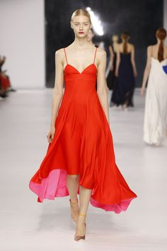 Dior Cruise 2014 – Look 57: Red silk dress. Discover more on www.dior.com #Dior