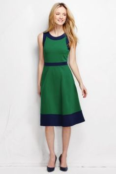 Womens Petite Midi Jersey T-shirt Dress - 10 -12 - BLUE Lands End 7lqeSm