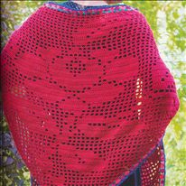 Haakpatroon Stola met roos - Boek: haken en kleur buiten - van Claire en Saskia