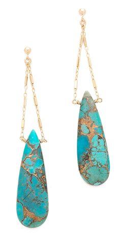 Heather Hawkins Cut Gemstone Earrings   SHOPBOP