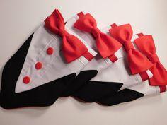 Check out Dog Tuxedo, Valentine Tuxedo, Pet Wedding Tuxedo,  Bandana Tuxedo Collar, Dog Clothes Black, Red and White Teacup Tuxedo on chiccaninecouture