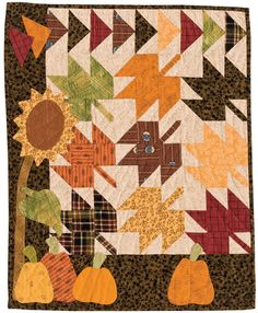 Tumbling Leaves quilt by Lori Smith