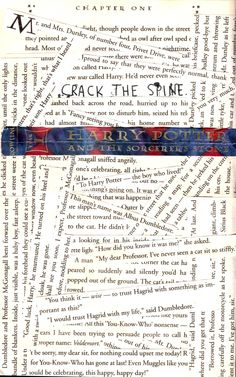 Wreck this journal. Crack the Spine. Harry Potter #TE