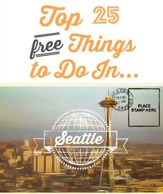 From taking pictures with the first Starbucks to touring around Seattle, check out the top 25 things to do in Seattle. Museums, parks, gardens and more! ideas for seattle! Seattle Vacation, Seattle Travel, Moving To Seattle, Seattle Weekend, Seattle Sights, Cruise Vacation, Over The Rainbow, Travel Usa, Travel Tips