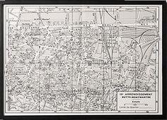 RH, Paris Arrondissement Map