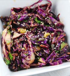 Healthy Cabbage Recipes: 23 Awesome Ideas You Haven't Tried Before Raw Cabbage Recipe, Purple Cabbage Recipes, Easy Cabbage Recipes, Side Dish Recipes, Raw Food Recipes, Indian Food Recipes, Cooking Recipes, Healthy Recipes, Fast Recipes
