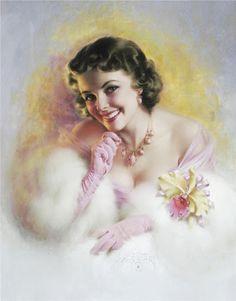 Fur lady .@@@@......http://www.pinterest.com/caroleminiature/histoire-de-femmes/