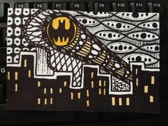 I am the Batman! Batman Drawing, Monogram Signs, Zentangles, Dc Universe, Monograms, Tangled, Dc Comics, Doodles, Inspired
