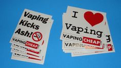New http://vapingcheap.com stickers to promote vaping!