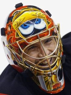 November marks the anniversary of the first time a goalie, Jacques Plante, wore a mask in an NHL game. Not quite the same as Willie O'Ree breaking the NHL's color barrier, or … Hockey Helmet, Hockey Goalie, Ice Hockey, Hockey Players, Montreal Canadiens, Nhl, Goalie Quotes, Canada Hockey, Mask Painting