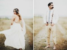 Long Branch Farms Laid-back Western Town Wedding: Stephanie + Jordan - beautiful portraits, just look at this color scheme...