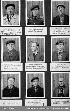 1942-50 - Personalbilder fra Mo i Rana stasjon