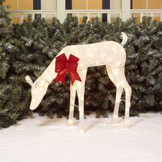 "Walmart 49.00 - Holiday Time 36"" White Glittering Mesh Doe Light Sculpture"