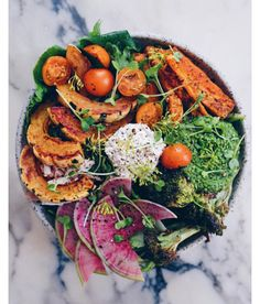 Not only is this healthy, but it is so beautiful! Nature gives us so many colors to work with!